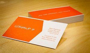 کارت ویزیت نارنجی