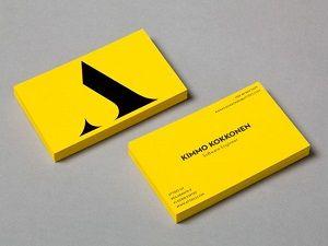 کارت ویزیت زرد و مشکی