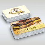 طراحی کارت ویزیت رستوران غزال